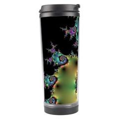 Satin Rainbow, Spiral Curves Through The Cosmos Travel Tumbler by DianeClancy