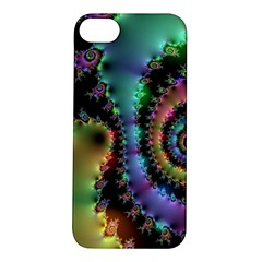Satin Rainbow, Spiral Curves Through The Cosmos Apple Iphone 5s Hardshell Case by DianeClancy