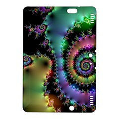 Satin Rainbow, Spiral Curves Through The Cosmos Kindle Fire Hdx 8 9  Hardshell Case by DianeClancy