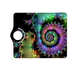 Satin Rainbow, Spiral Curves Through The Cosmos Kindle Fire Hdx 8 9  Flip 360 Case by DianeClancy