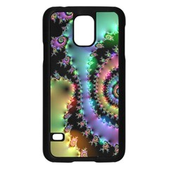 Satin Rainbow, Spiral Curves Through The Cosmos Samsung Galaxy S5 Case (black) by DianeClancy