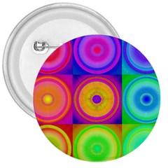 Retro Circles 3  Button by SaraThePixelPixie