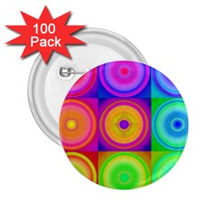 Retro Circles 2.25  Button (100 pack) by SaraThePixelPixie
