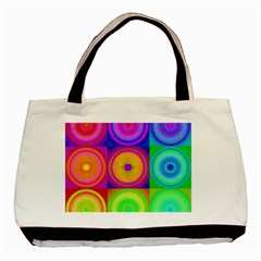 Retro Circles Classic Tote Bag by SaraThePixelPixie