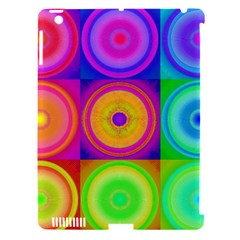 Retro Circles Apple Ipad 3/4 Hardshell Case (compatible With Smart Cover) by SaraThePixelPixie