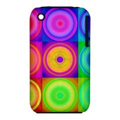Retro Circles Apple Iphone 3g/3gs Hardshell Case (pc+silicone) by SaraThePixelPixie
