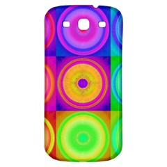 Retro Circles Samsung Galaxy S3 S Iii Classic Hardshell Back Case by SaraThePixelPixie