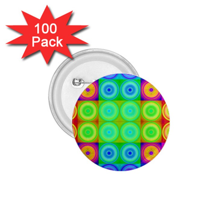 Rainbow Circles 1.75  Button (100 pack)