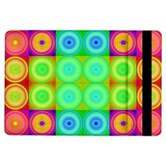 Rainbow Circles Apple Ipad Air Flip Case by SaraThePixelPixie