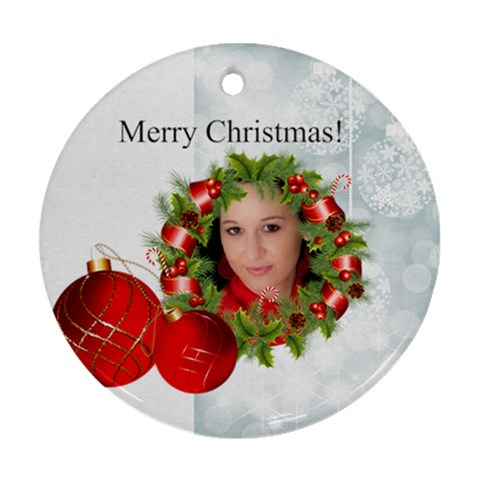 Xmas By Debe Lee   Ornament (round)   Nbpg80frxfrg   Www Artscow Com Front