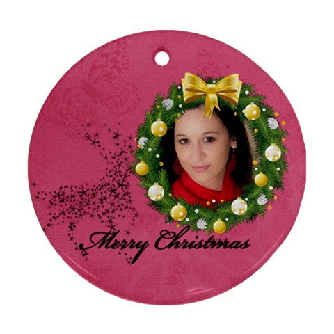 Xmas By Debe Lee   Ornament (round)   Ekh18f0jmvnj   Www Artscow Com Front