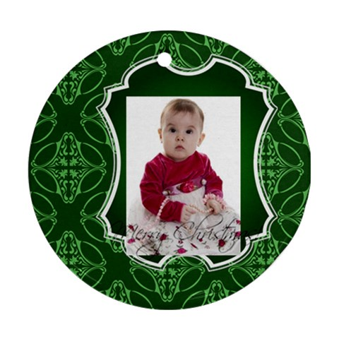 Xmas By Debe Lee   Ornament (round)   88of0l0dt8sk   Www Artscow Com Front