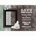 Chocolate Mint Save the Date Card - 5  x 7  Photo Cards
