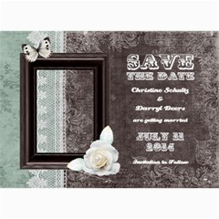 Chocolate Mint Save The Date Card By 4dannidesigns   5  X 7  Photo Cards   Afow6sl6a5vg   Www Artscow Com 7 x5 Photo Card - 7