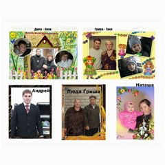 Big Family Calendar By Tania   Wall Calendar 11  X 8 5  (18 Months)   Qe1ihgoh5ps4   Www Artscow Com Dec 2014
