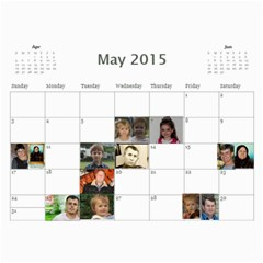 Big Family Calendar By Tania   Wall Calendar 11  X 8 5  (18 Months)   Qe1ihgoh5ps4   Www Artscow Com May 2015