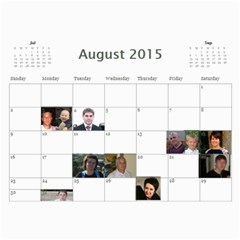 Big Family Calendar By Tania   Wall Calendar 11  X 8 5  (18 Months)   Qe1ihgoh5ps4   Www Artscow Com Aug 2015