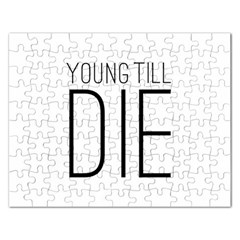 Young Till Die Typographic Statement Design Jigsaw Puzzle (rectangle) by dflcprints