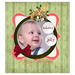 Merry Christmas By Debe Lee   Drawstring Pouch (large)   6gjug7ubaeig   Www Artscow Com Front