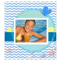 Summer By Summer Time    Drawstring Pouch (medium)   Jj4trfzfqegs   Www Artscow Com Back