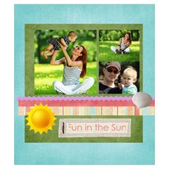Summer By Summer Time    Drawstring Pouch (small)   R14k03wj5bs1   Www Artscow Com Back