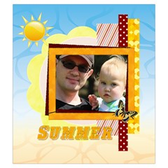Summer By Summer Time    Drawstring Pouch (medium)   H50wfxzrxw92   Www Artscow Com Back