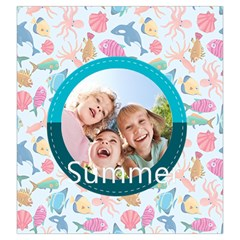 Summer By Summer Time    Drawstring Pouch (large)   Ffd1esfvqdob   Www Artscow Com Front