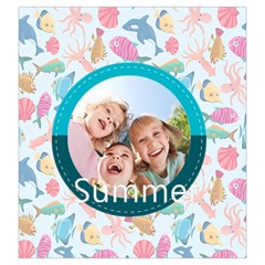Summer By Summer Time    Drawstring Pouch (large)   Ffd1esfvqdob   Www Artscow Com Back