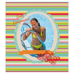 Summer By Summer Time    Drawstring Pouch (medium)   Tl4p175qwq48   Www Artscow Com Front