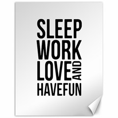 Sleep Work Love And Have Fun Typographic Design 01 Canvas 12  X 16  (unframed) by dflcprints