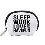 Sleep Work Love And Have Fun Typographic Design 01 Accessory Pouch (Small) Front