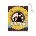 family - Drawstring Pouch (Large)
