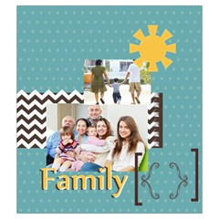 Family By Family   Drawstring Pouch (medium)   Si1p94xo5ti5   Www Artscow Com Front