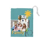 family - Drawstring Pouch (Medium)