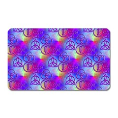 Rainbow Led Zeppelin Symbols Magnet (rectangular) by SaraThePixelPixie