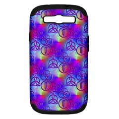 Rainbow Led Zeppelin Symbols Samsung Galaxy S Iii Hardshell Case (pc+silicone) by SaraThePixelPixie
