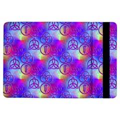 Rainbow Led Zeppelin Symbols Apple Ipad Air Flip Case by SaraThePixelPixie