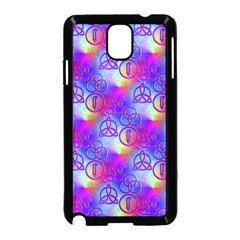 Rainbow Led Zeppelin Symbols Samsung Galaxy Note 3 Neo Hardshell Case (black) by SaraThePixelPixie