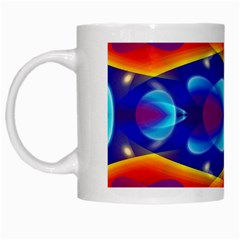 Planet Something White Coffee Mug by SaraThePixelPixie