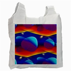 Planet Something White Reusable Bag (one Side)