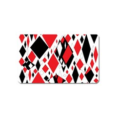 Distorted Diamonds In Black & Red Magnet (name Card) by StuffOrSomething