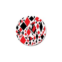 Distorted Diamonds In Black & Red Golf Ball Marker 4 Pack by StuffOrSomething