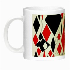 Distorted Diamonds In Black & Red Glow In The Dark Mug by StuffOrSomething