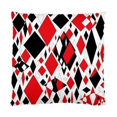 Distorted Diamonds In Black & Red Cushion Case (single Sided)  by StuffOrSomething