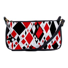 Distorted Diamonds In Black & Red Evening Bag by StuffOrSomething