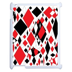 Distorted Diamonds In Black & Red Apple Ipad 2 Case (white) by StuffOrSomething