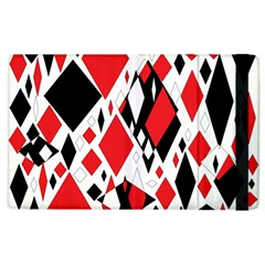 Distorted Diamonds In Black & Red Apple Ipad 2 Flip Case by StuffOrSomething