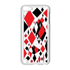 Distorted Diamonds In Black & Red Apple Ipod Touch 5 Case (white) by StuffOrSomething