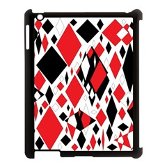 Distorted Diamonds In Black & Red Apple Ipad 3/4 Case (black) by StuffOrSomething