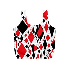 Distorted Diamonds In Black & Red Reusable Bag (S) by StuffOrSomething